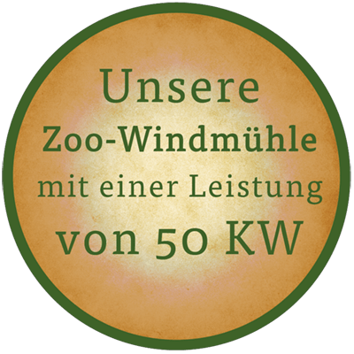 Unsere Zoo-Windmühle Button