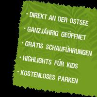 Störer mit Informationen zum Zoo Arche Noah für Desktop